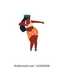 Hula dancer girl illustration