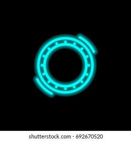 Hula Hoop blue glowing neon ui ux icon. Glowing sign logo vector