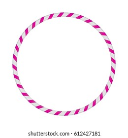 Hula Hoop silver with pink.