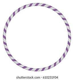 The hula Hoop silver with purple