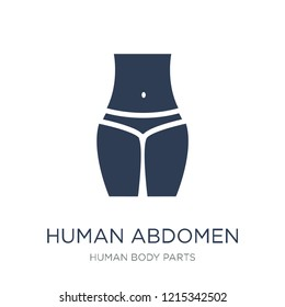 Human Abdomen icon. Trendy flat vector Human Abdomen icon on white background from Human Body Parts collection, vector illustration can be use for web and mobile, eps10