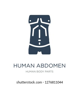 human abdomen icon vector on white background, human abdomen trendy filled icons from Human body parts collection, human abdomen vector illustration