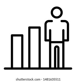 Human ability growth icon. Outline human ability growth vector icon for web design isolated on white background