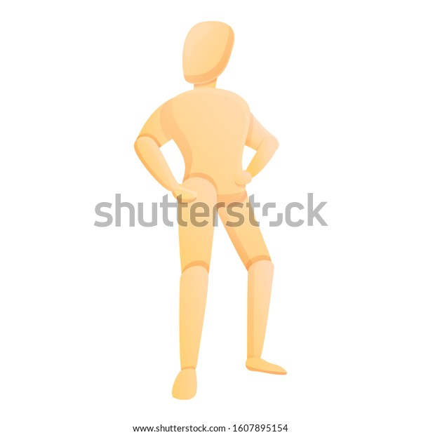 human body mannequin icon cartoon human stock vector royalty free 1607895154 shutterstock