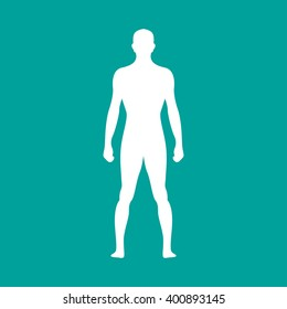 Human  body outline. Vector illustration