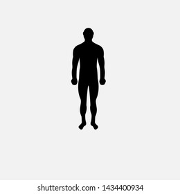 human body silhouette.human icon.body icon.can be used for anatomy.person symbol