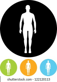 Human body - Vector icon isolated