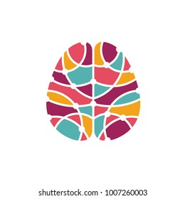 Human brain abstract icon. Brain research concept