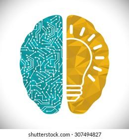 Human brain design, vector illustration eps 10.