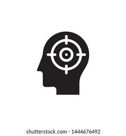 human, brain, focus icon. Simple glyph, flat vector of Mind process icons for UI and UX, website or mobile application