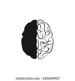 Human brain. Icon.