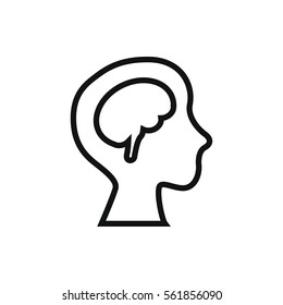 human brain icon illustration isolated vector sign symbol