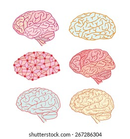 Human brain icon, vector illustration.