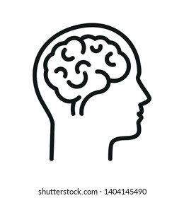 Human brain.  Isolated vector icon