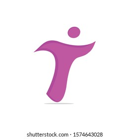 Human character health logo design. Fitness and health abstract logo design. Active human logo medical logo concept.