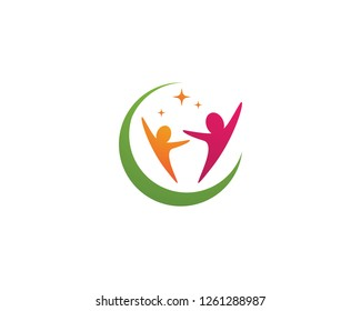 Human character logo sign illustration vector design - Vector
