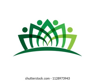 Human character sign,Health care logo. Nature logo sign. Green life logo sign
