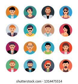 Human Characters Flat Vectors Set
