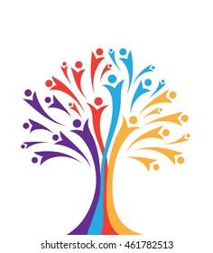 Human Community Concept Tree Illustration