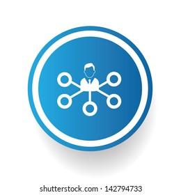 Human connection symbol,vector