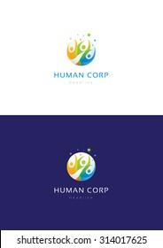 Human corporation logo teamplate.