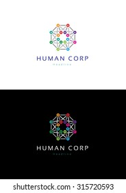 Human corporation logo template.