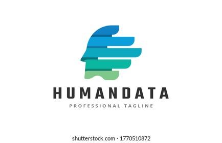 Human Data Vector Logo Template