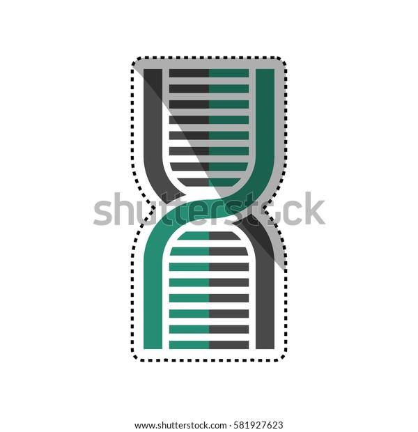 Human dna symbol icon vector illustration graphic design