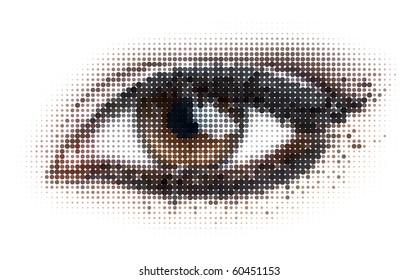 human dots eye. eps8 vector illustration.