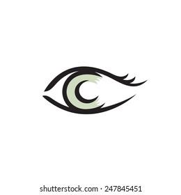 Human eye logo. Smooth lines style.