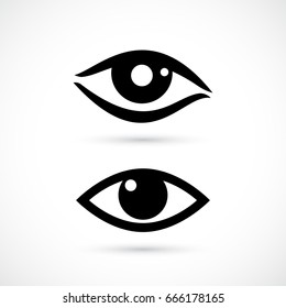 Human eye vector icon on white background