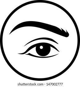Human eye vector isolated