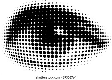 human eyes from black dots