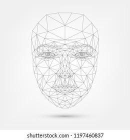 Human face, polygonal mesh, technology