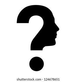 Question Mark On Face Images, Stock Photos & Vectors | Shutterstock