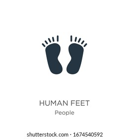 Human feet icon vector. Trendy flat human feet icon from people collection isolated on white background. Vector illustration can be used for web and mobile graphic design, logo, eps10
