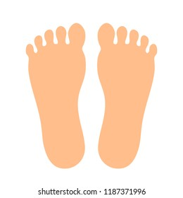 Human feet vector icon illustration isolated on white background