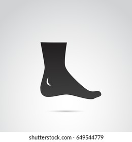 Human foot, leg icon isolated on white background. Vector art.