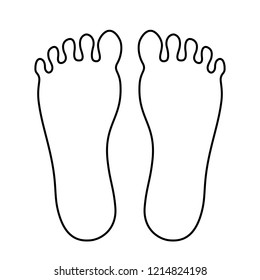 Human foot outline icon vector illustration isolated on white background