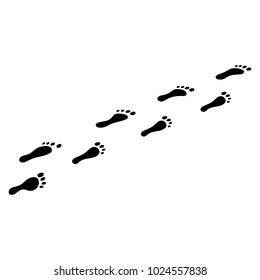 Human foot steps icon