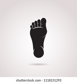Human foot vector icon isolated on white background.