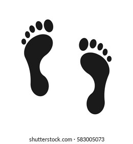 Human footprint icon. Vector illustration.