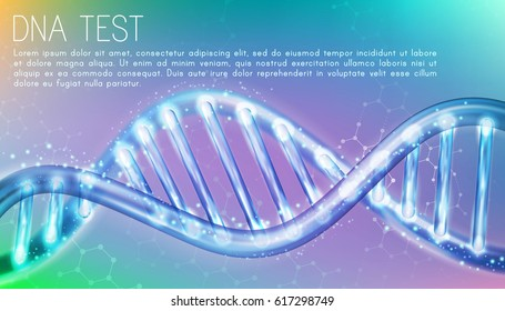 Human Genome Genetics Science DNA Double Spiral Abstract Steel Blue Background Vector Art Design Illustration