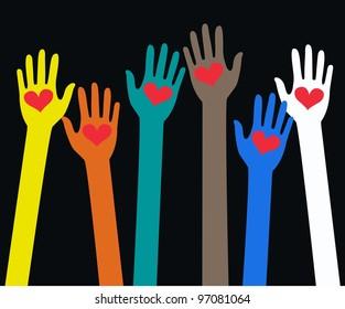 human hand love