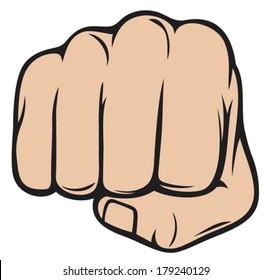 human hand punching
