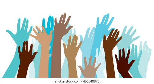 Human hand Symbols. Different emotional messages. It can be used for WEB or print work.