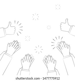 Human hands clapping. applauding hands. vector illustration in flat style.