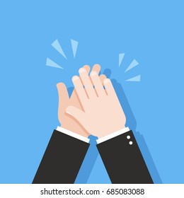 Human hands clapping. Applause clap. Vector illustration