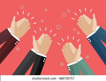 Human hands clapping. vector illustration