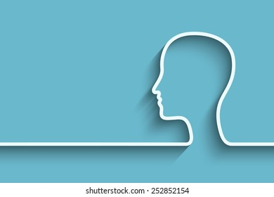 Human head background. Eps10 vector for your design